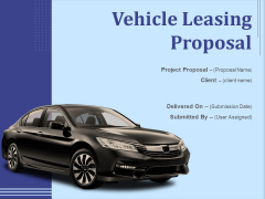 Vehicle Leasing Proposal Ppt PowerPoint Presentation Complete Deck With Slides