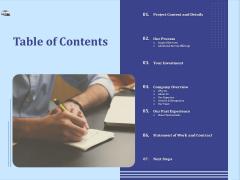 Vehicle Leasing Table Of Contents Portrait PDF