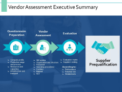 Vendor Assessment Executive Summary Ppt PowerPoint Presentation Pictures Rules