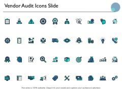 Vendor Audit Icons Slide Marketing Ppt PowerPoint Presentation Portfolio Pictures