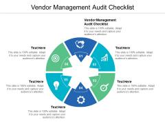 Vendor Management Audit Checklist Ppt PowerPoint Presentation Slides Elements Cpb