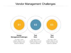 Vendor Management Challenges Ppt PowerPoint Presentation Infographics Templates Cpb