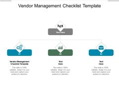 Vendor Management Checklist Template Ppt PowerPoint Presentation Inspiration Graphics Design Cpb Pdf