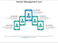 Vendor Management Icon Ppt PowerPoint Presentation Model Backgrounds