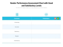 Vendor Performance Assessment Chart With Good And Satisfactory Levels Ppt PowerPoint Presentation Inspiration Example Topics PDF