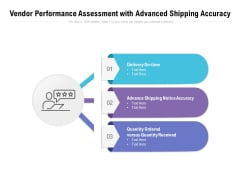 Vendor Performance Assessment With Advanced Shipping Accuracy Ppt PowerPoint Presentation Summary Graphics Template PDF