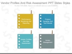 Vendor Profiles And Risk Assessment Ppt Slides Styles