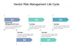Vendor Risk Management Life Cycle Ppt PowerPoint Presentation Model Influencers Cpb