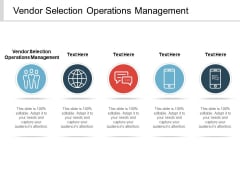 Vendor Selection Operations Management Ppt PowerPoint Presentation Show Model Cpb