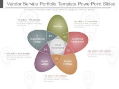 Vendor Service Portfolio Template Powerpoint Slides