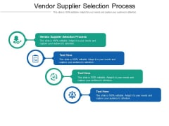 Vendor Supplier Selection Process Ppt PowerPoint Presentation Layouts Rules Cpb Pdf