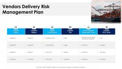 Vendors Delivery Risk Management Plan Ppt PowerPoint Presentation Model Templates PDF