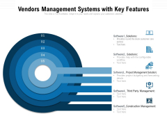 Vendors Management Systems With Key Features Ppt PowerPoint Presentation Professional Maker PDF
