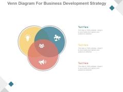 Venn Diagram For Business Development Strategy Ppt PowerPoint Presentation Guidelines