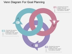Venn Diagram For Goal Planning Powerpoint Templates