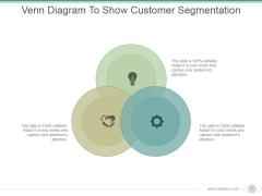 Venn Diagram To Show Customer Segmentation Ppt PowerPoint Presentation Examples