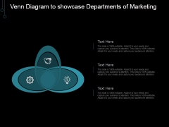 Venn Diagram To Showcase Departments Of Marketing Ppt PowerPoint Presentation Good