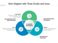 Venn Diagram With Three Circles And Icons Ppt PowerPoint Presentation File Layouts PDF