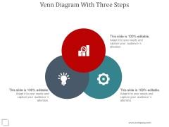 Venn Diagram With Three Steps Ppt PowerPoint Presentation Layout