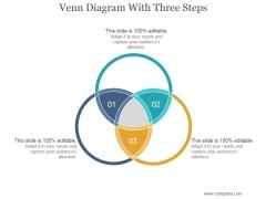 Venn Diagram With Three Steps Ppt PowerPoint Presentation Rules