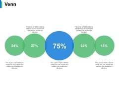 Venn Percentage Ppt PowerPoint Presentation Slides Vector