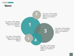Venn With Five Circles Ppt PowerPoint Presentation Inspiration Format
