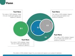 Venn With Four Circles Ppt PowerPoint Presentation Summary Show