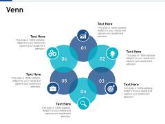 Venn With Six Circles Ppt PowerPoint Presentation Professional Maker