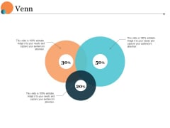Venn With Three Circles Ppt PowerPoint Presentation Outline Designs Download