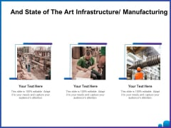 Venture Capital Funding For Firms And State Of The Art Infrastructure Manufacturing Ppt Summary Inspiration PDF