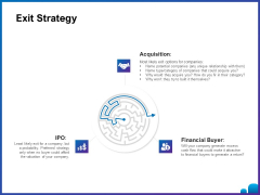Venture Capital Funding For Firms Exit Strategy Ppt Professional Slideshow PDF