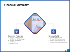 Venture Capital Funding For Firms Financial Summary Ppt Professional Picture PDF