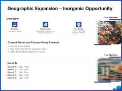 Venture Capital Funding For Firms Geographic Expansion Inorganic Opportunity Ppt Layouts Design Inspiration PDF
