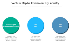 Venture Capital Investment By Industry Ppt PowerPoint Presentation Ideas Icons Cpb Pdf