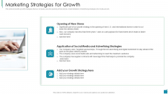 Venture Capital Pitch Decks For Private Companies Marketing Strategies For Growth Demonstration PDF