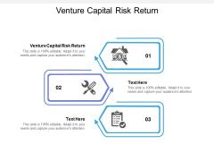 Venture Capital Risk Return Ppt PowerPoint Presentation Pictures Slides Cpb