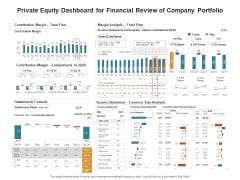 Venture Capitalist Control Board Private Equity Dashboard For Financial Review Of Company Portfolio Plan Elements PDF