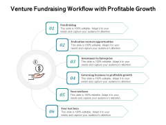 Venture Fundraising Workflow With Profitable Growth Ppt PowerPoint Presentation Professional Microsoft PDF