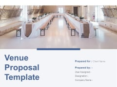 Venue Proposal Template Ppt Powerpoint Presentation Complete Deck With Slides