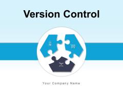Version Control Merge Arrows Different Processes Ppt PowerPoint Presentation Complete Deck