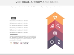 Vertical Arrow For Positioning Strategy Powerpoint Template