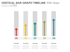 Vertical Arrows Timeline With Years Powerpoint Slides