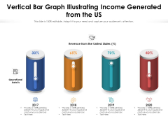Vertical Bar Graph Illustrating Income Generated From The US Ppt PowerPoint Presentation Gallery Structure PDF