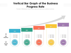 Vertical Bar Graph Of The Business Progress Rate Ppt PowerPoint Presentation File Slides PDF