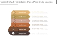 Vertical Chart For Solution Powerpoint Slide Designs
