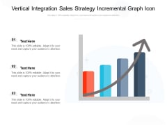 Vertical Integration Sales Strategy Incremental Graph Icon Ppt PowerPoint Presentation Gallery Example PDF