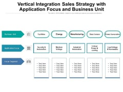 Vertical Integration Sales Strategy With Application Focus And Business Unit Ppt PowerPoint Presentation File Gallery PDF