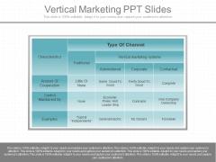 Vertical Marketing Ppt Slides