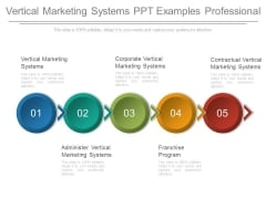 Vertical Marketing Systems Ppt Examples Professional