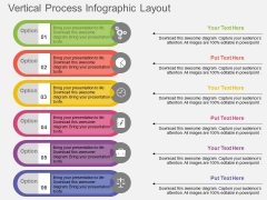 Vertical Process Infographic Layout Powerpoint Templates